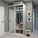 conception d'un petit couloir dans l'appartement