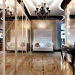 design inhabituel du couloir de l'appartement