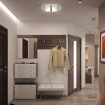 conception du couloir de l'appartement