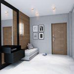 couloir dans un appartement de style moderne
