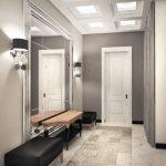 couloir de style moderne dans l'appartement