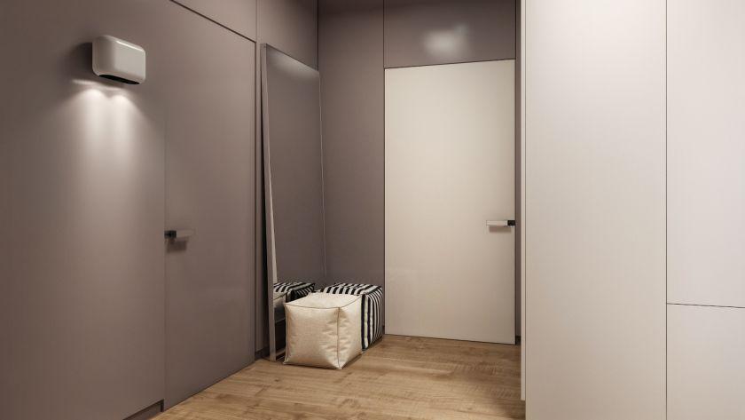minimalisme pour le couloir de l'appartement photo