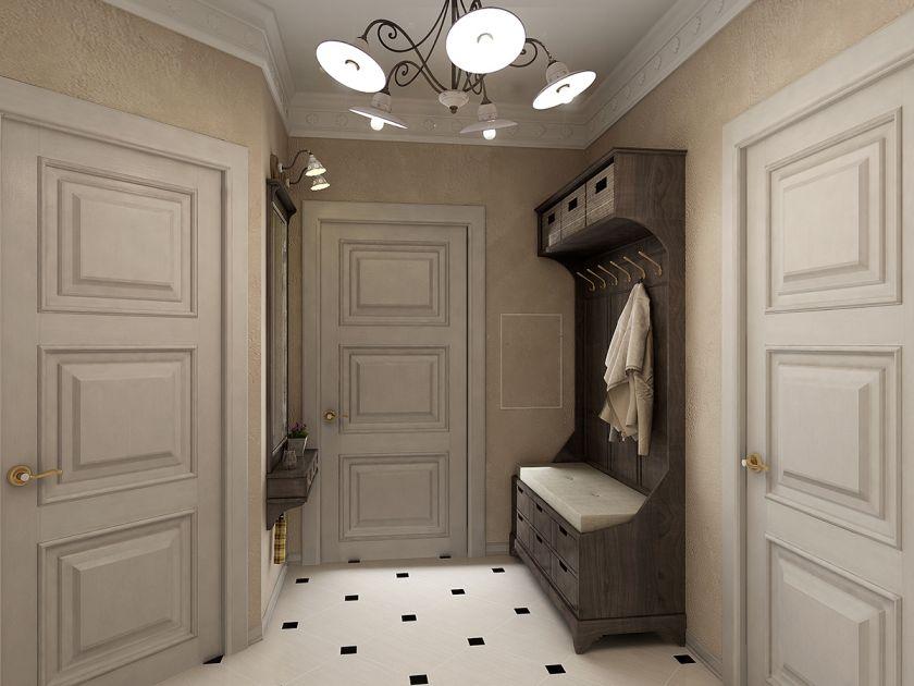 petit hall d'entrée dans l'appartement